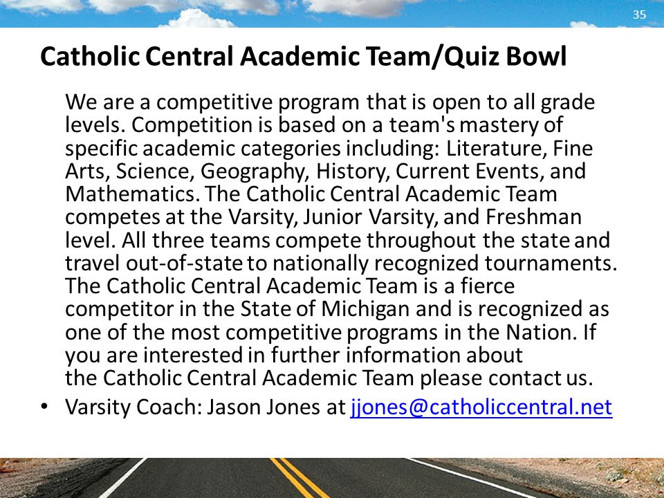 Catholic Central Academic Team/Quiz Bowl