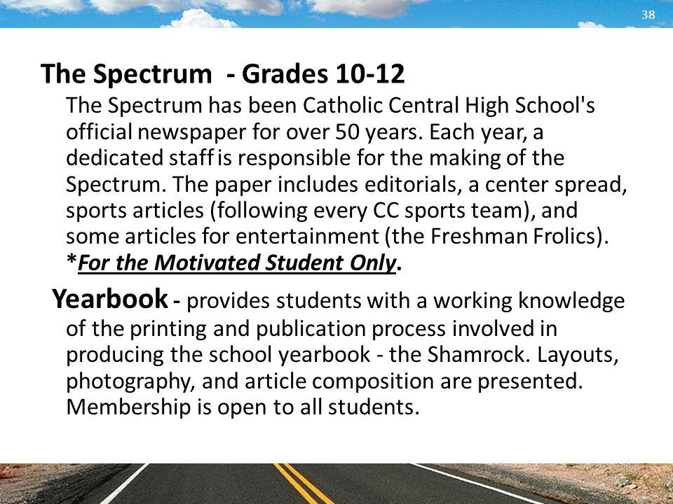 The Spectrum - Grades 10-12