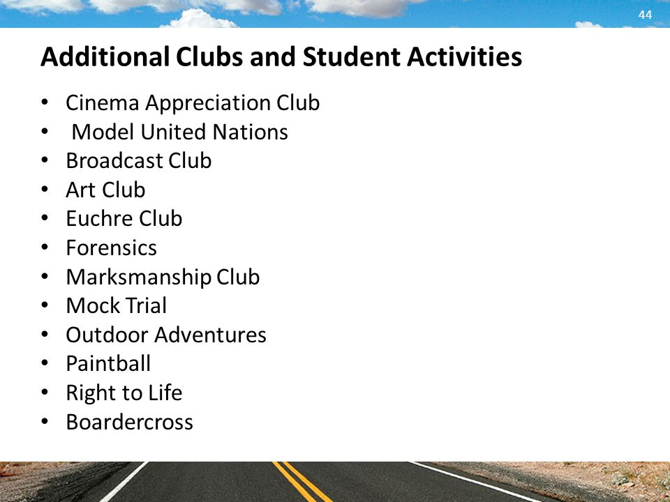 Additional Clubs and Student Activities