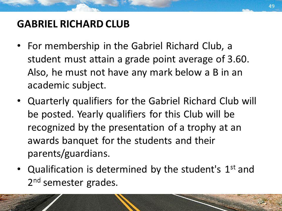 GABRIEL RICHARD CLUB