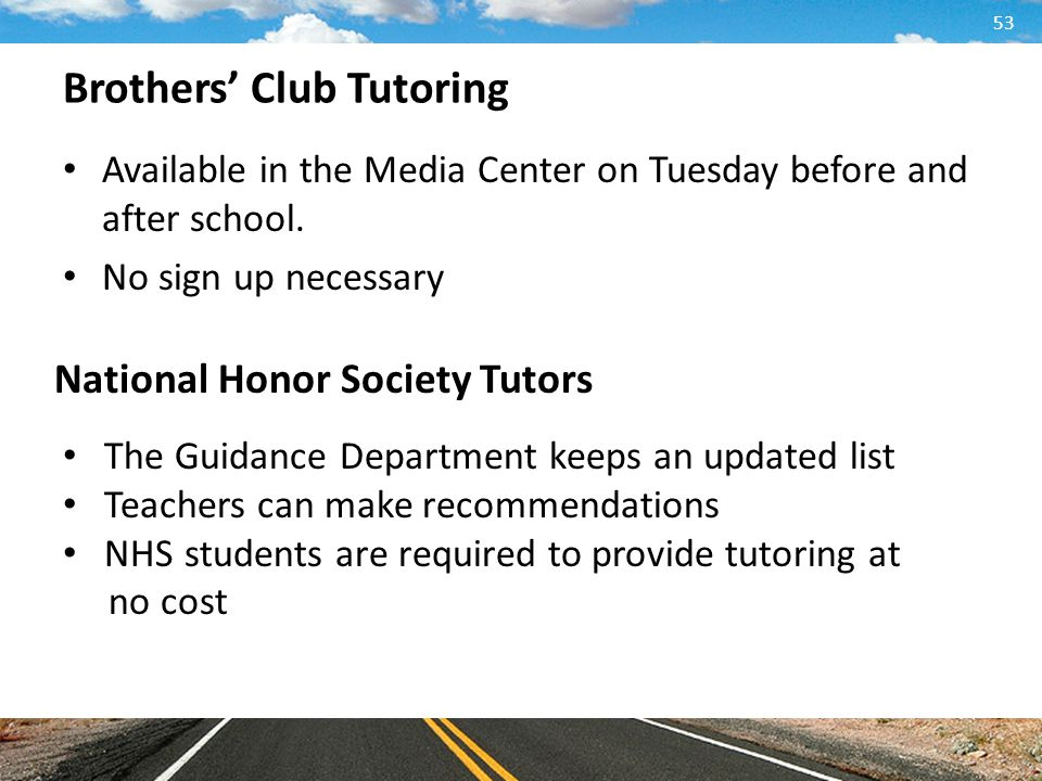 Brothers' Club Tutoring