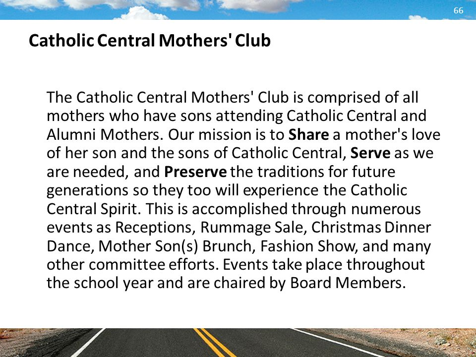 Catholic Central Mothers Club