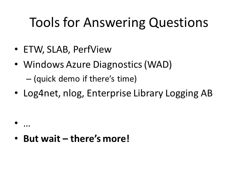 Tools for Answering Questions