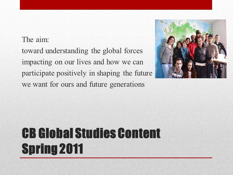 CB Global Studies Content Spring 2011