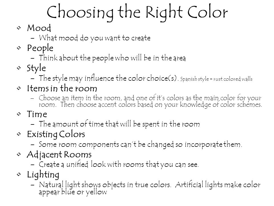 Choosing the Right Color