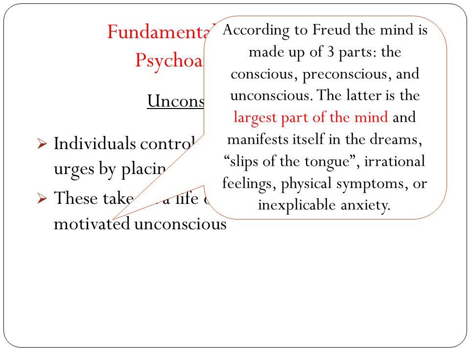 Fundamental Assumptions of Psychoanalytic Theory