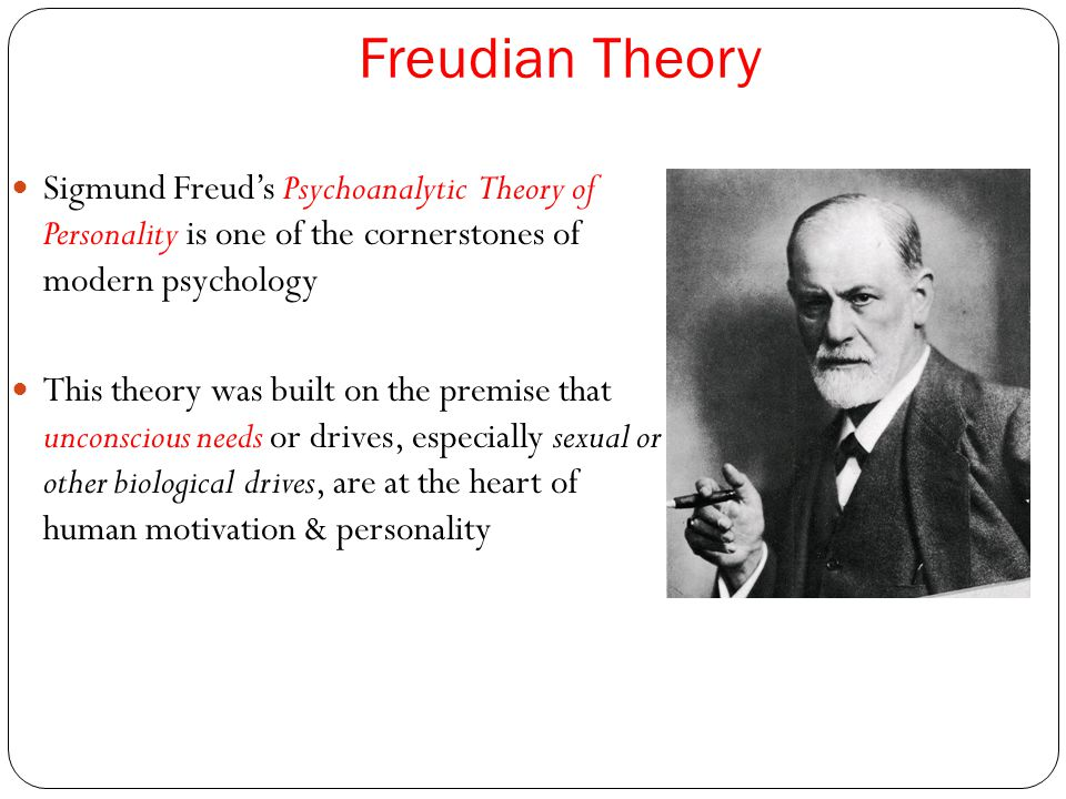 Freudian Theory Sigmund Freud's Psychoanalytic Theory of Personality is one of the cornerstones of modern psychology.