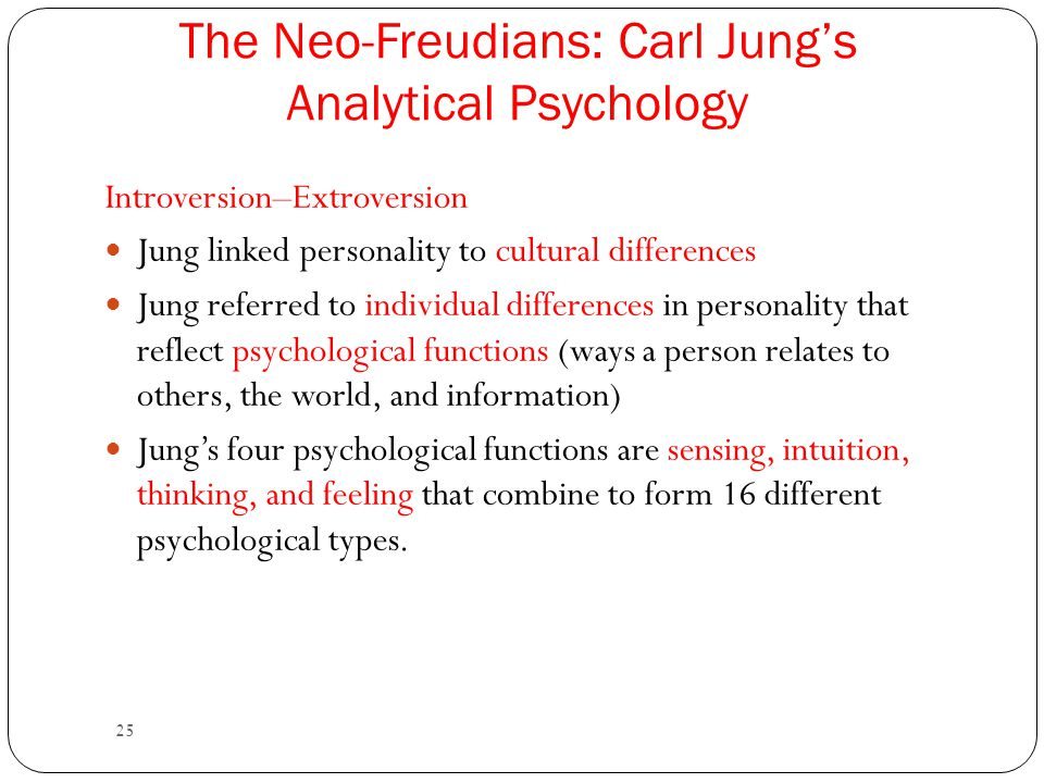The Neo-Freudians: Carl Jung's Analytical Psychology