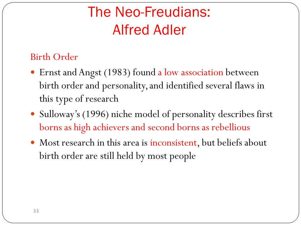 The Neo-Freudians: Alfred Adler