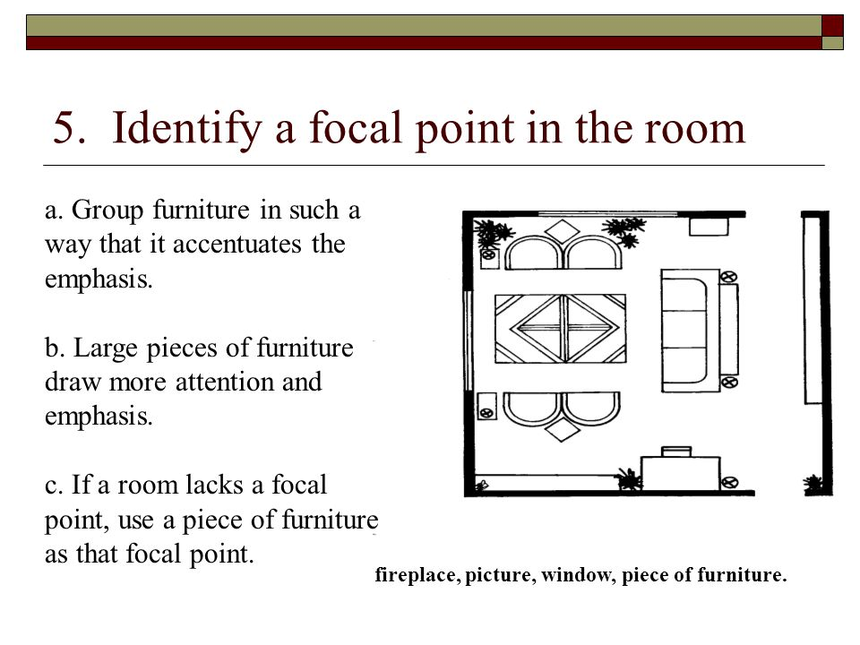 5. Identify a focal point in the room