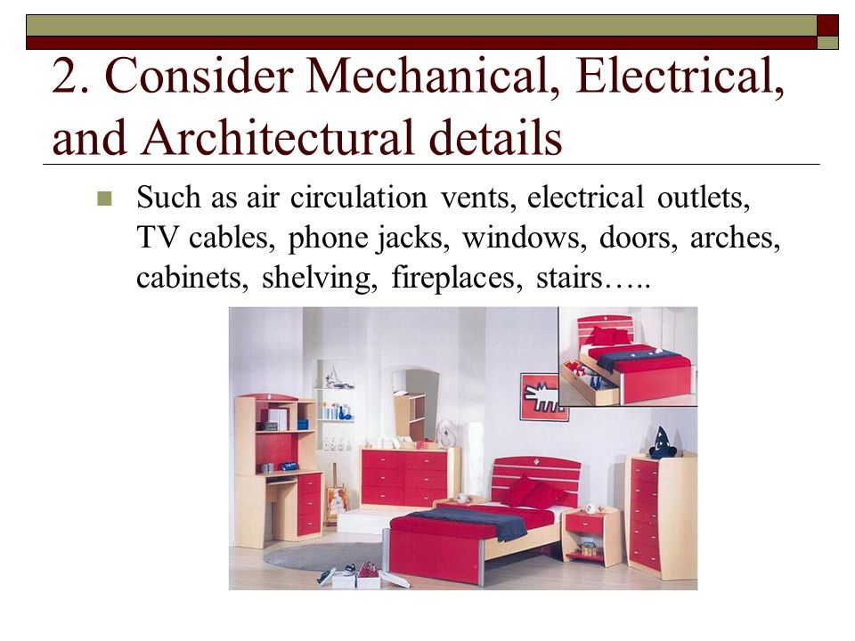 2. Consider Mechanical, Electrical, and Architectural details