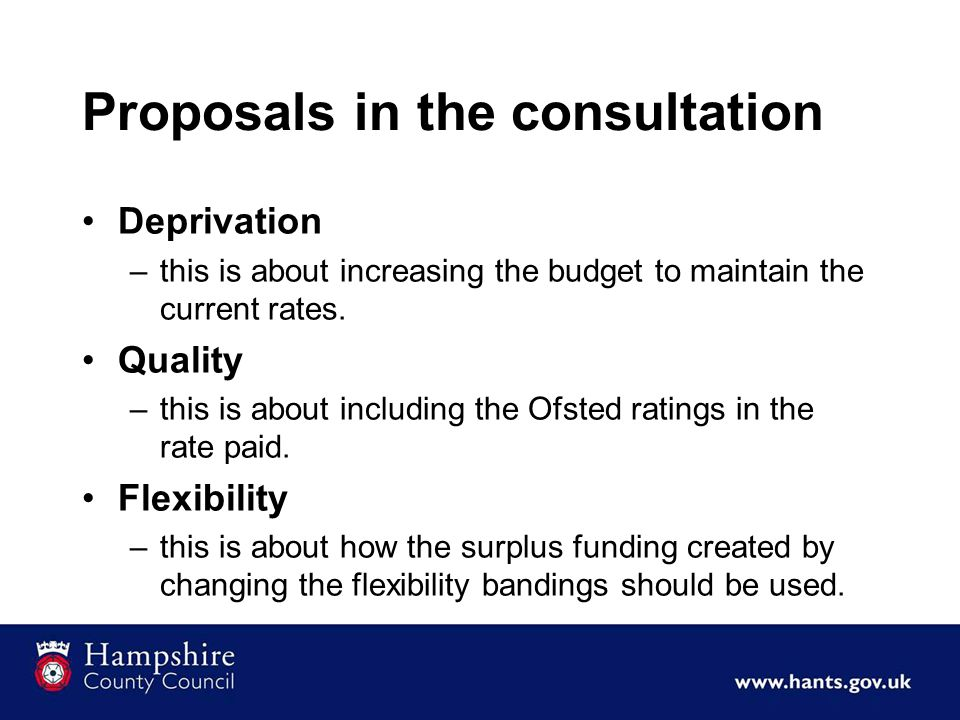 Proposals in the consultation