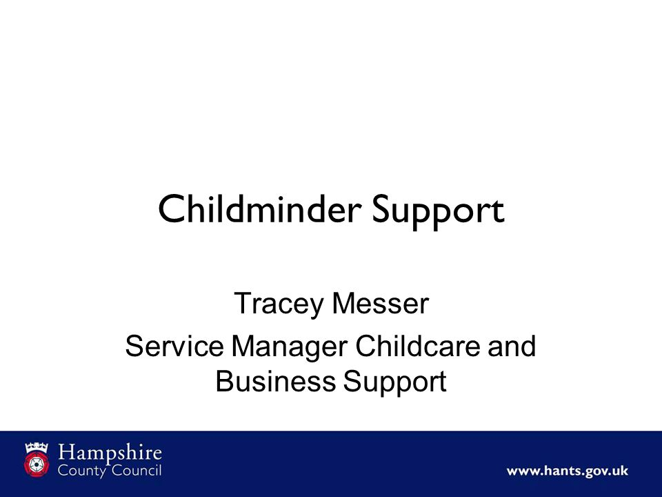 Tracey Messer Service Manager Childcare and Business Support