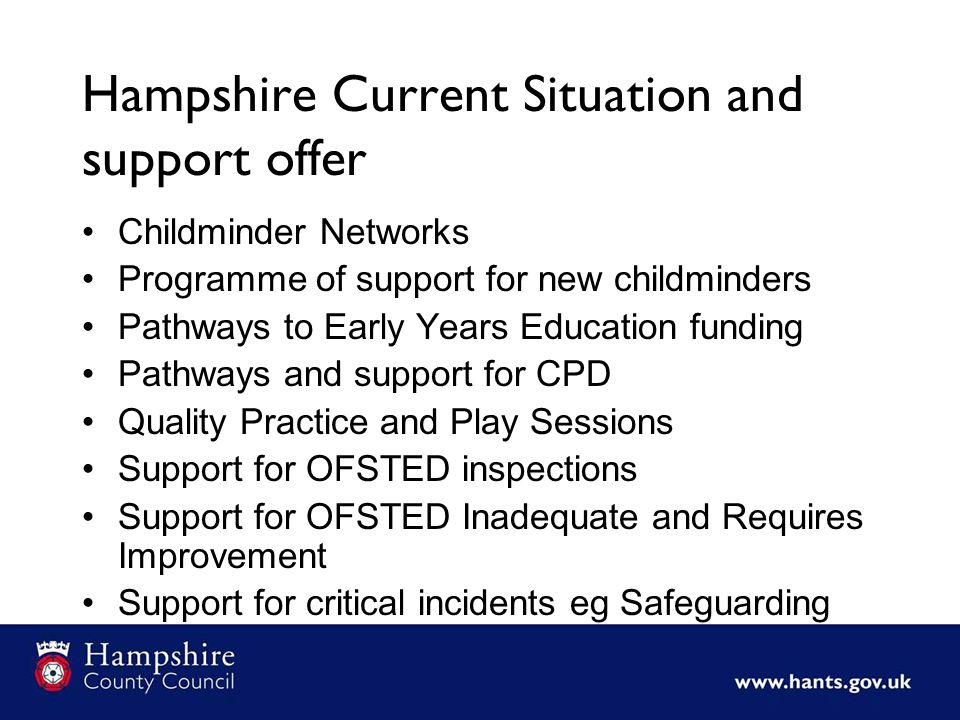Hampshire Current Situation and support offer