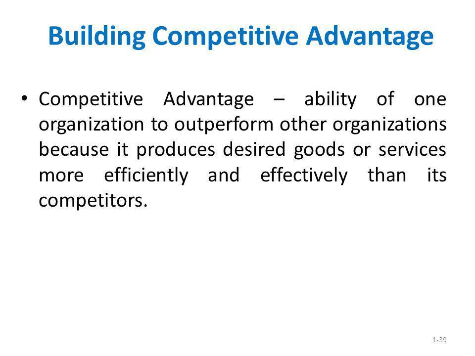 Building Competitive Advantage