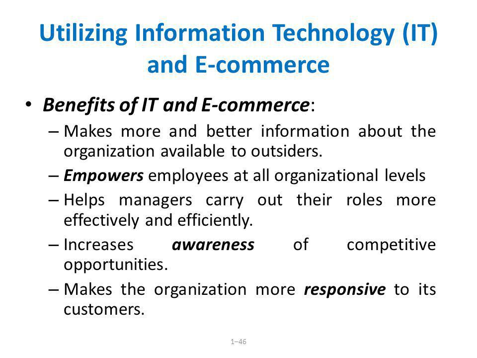 Utilizing Information Technology (IT) and E-commerce