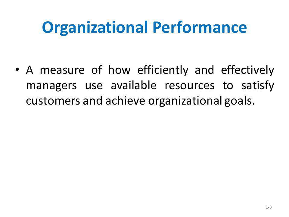 Organizational Performance