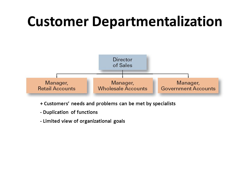 Customer Departmentalization