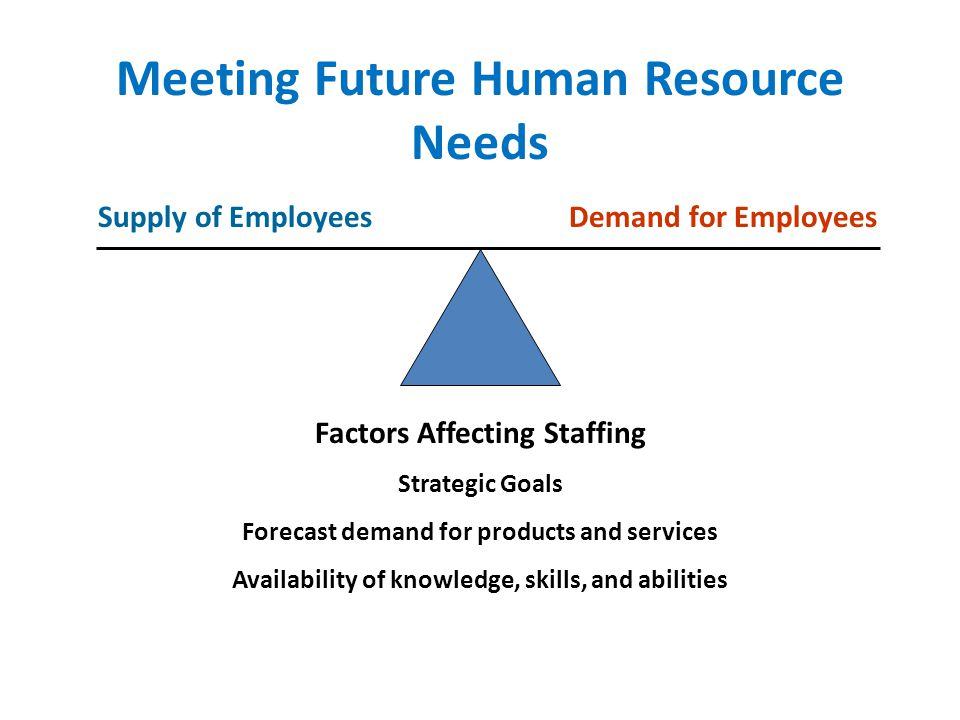 Meeting Future Human Resource Needs