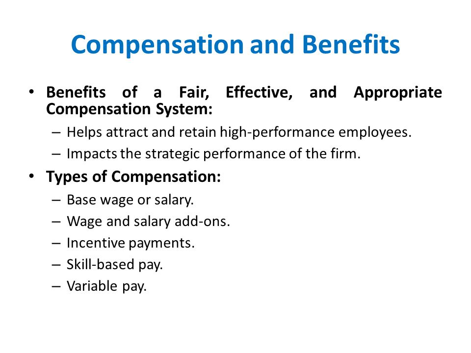 advantages of fair compensation system Kentucky is officially moving forward on making the biggest changes to the workers' compensation system in decades the legislation – backed by business groups but opposed by organized labor groups – was passed by both the state senate and house of representatives in march and was signed by gov matt bevin on march.