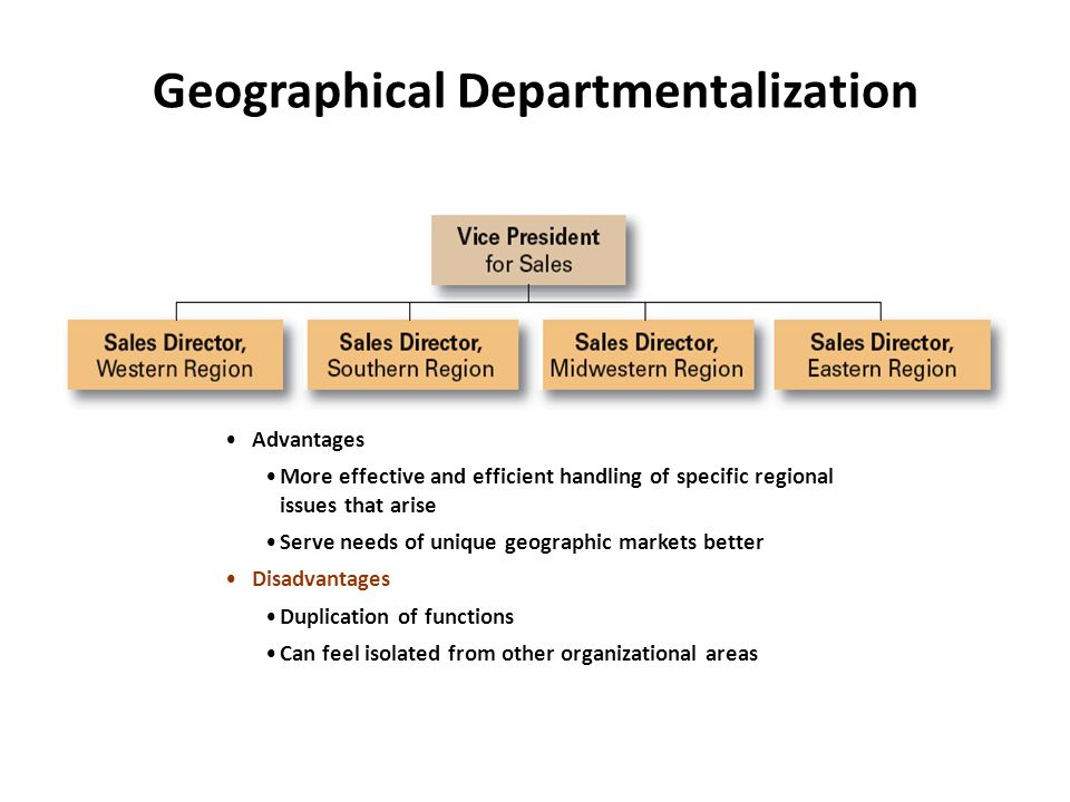 Geographical Departmentalization