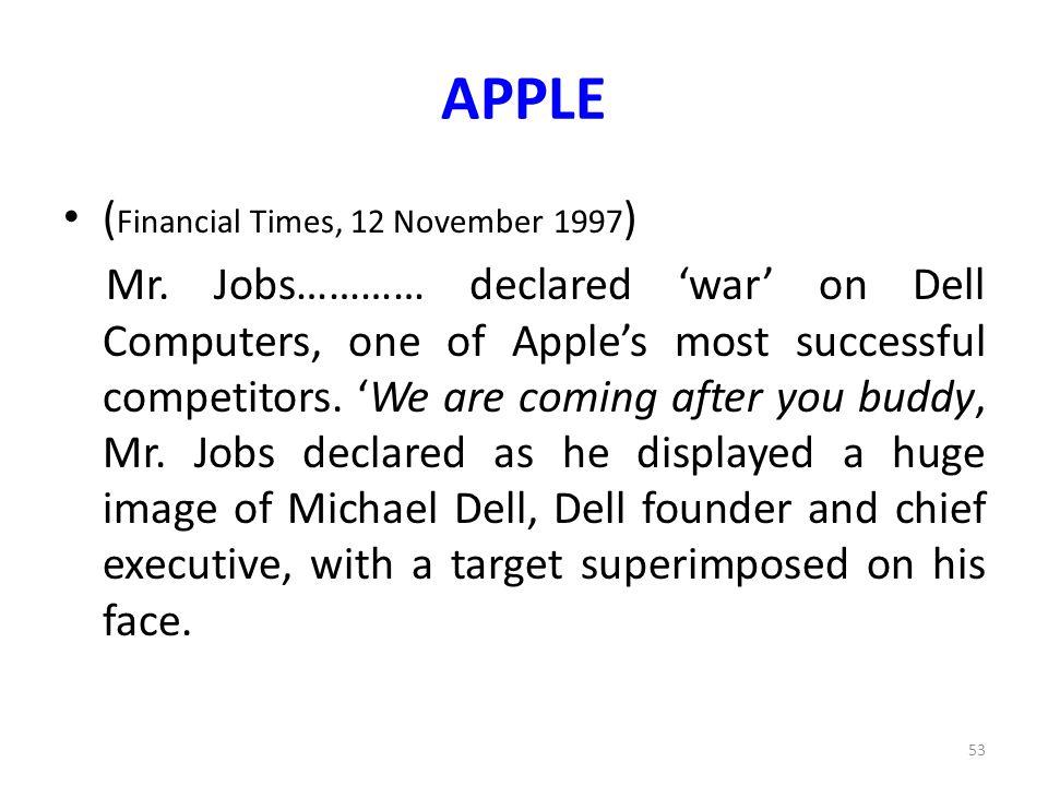 APPLE (Financial Times, 12 November 1997)
