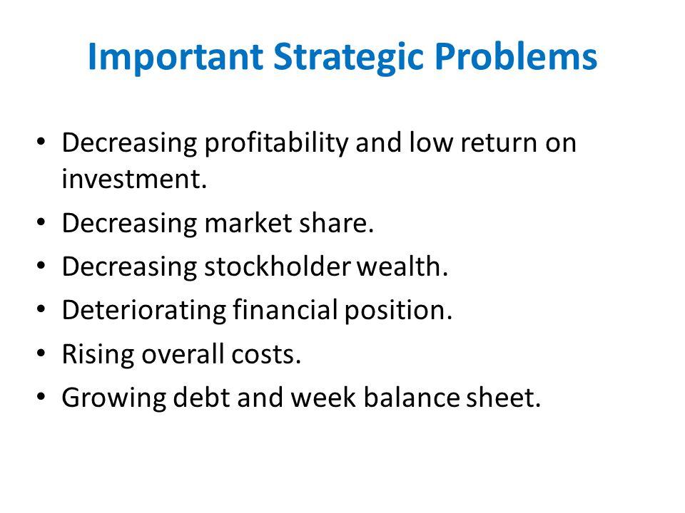 Important Strategic Problems