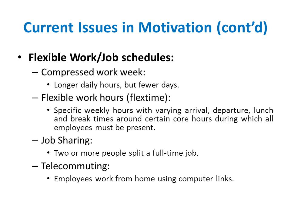 Current Issues in Motivation (cont'd)