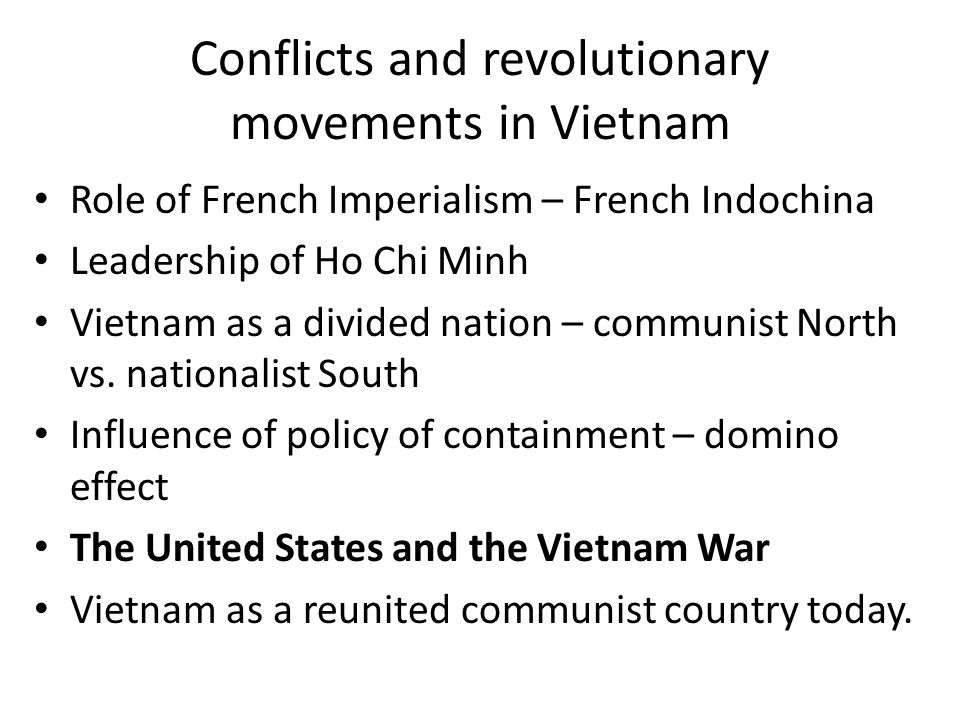 Conflicts and revolutionary movements in Vietnam