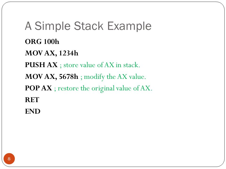 A Simple Stack Example