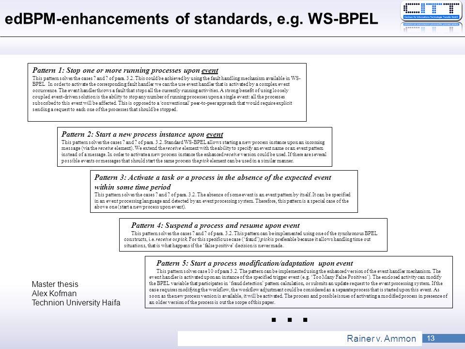 edBPM-enhancements of standards, e.g. WS-BPEL