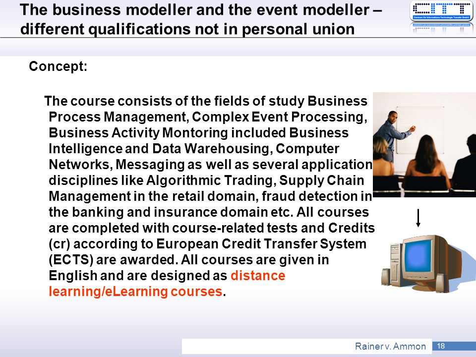 The business modeller and the event modeller – different qualifications not in personal union