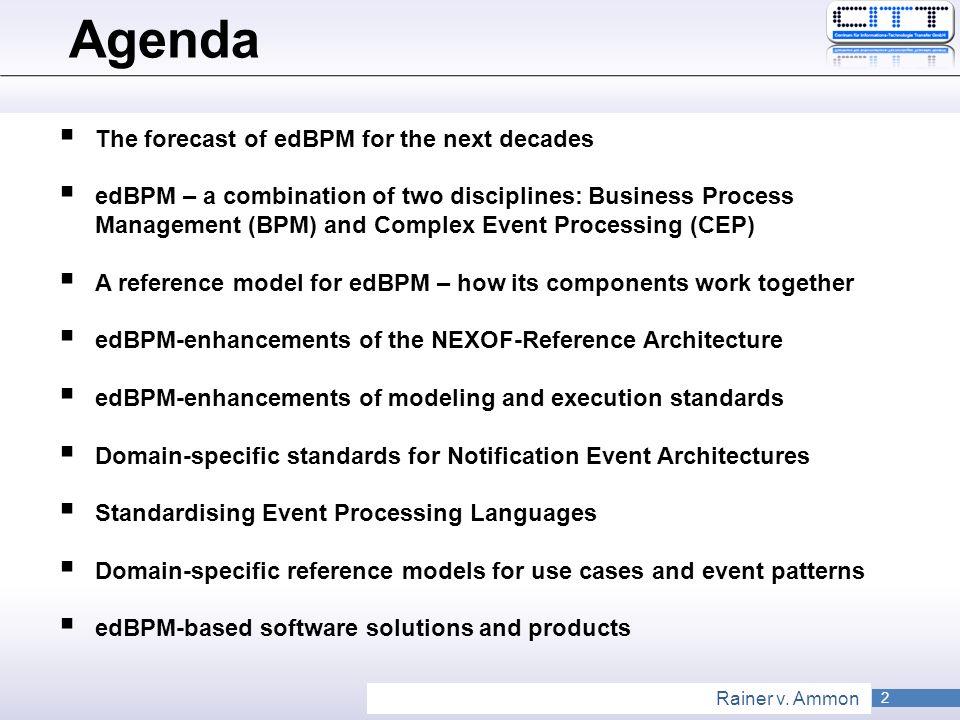Agenda The forecast of edBPM for the next decades