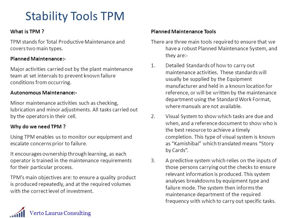 Stability Tools TPM What is TPM