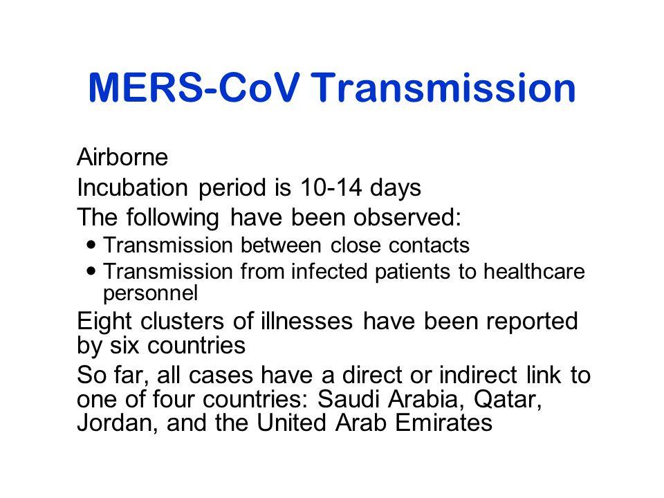 MERS-CoV Transmission