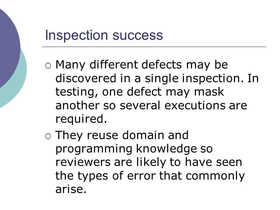 Inspection success
