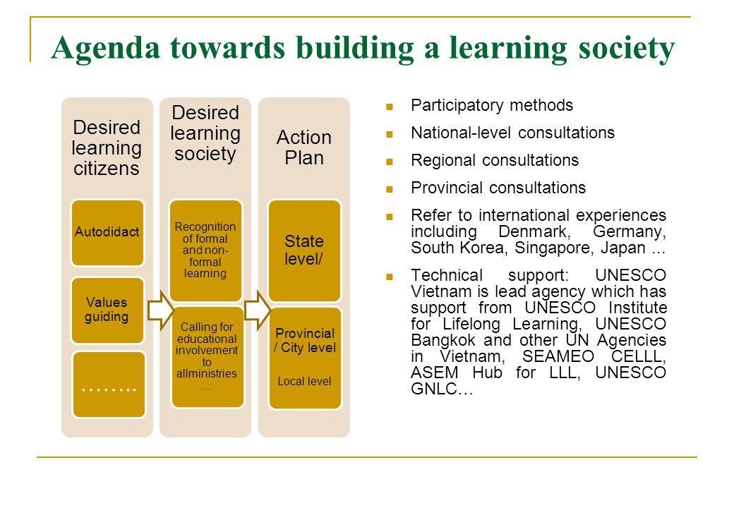Agenda towards building a learning society