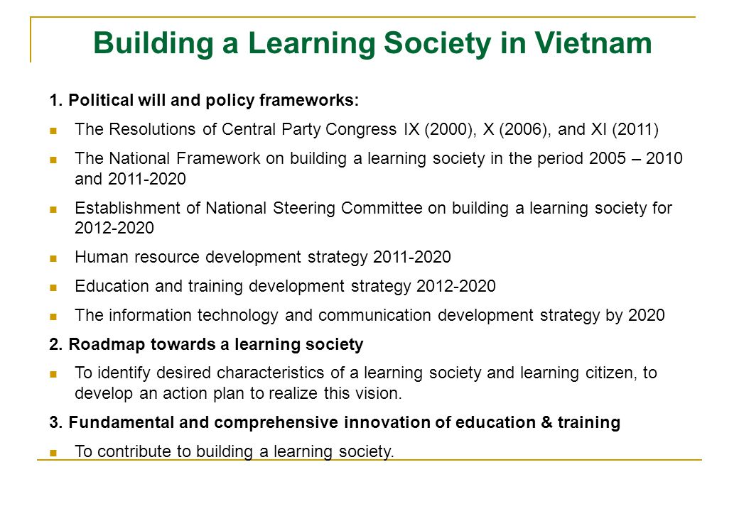 Building a Learning Society in Vietnam