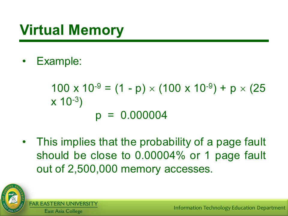 Virtual Memory Example: