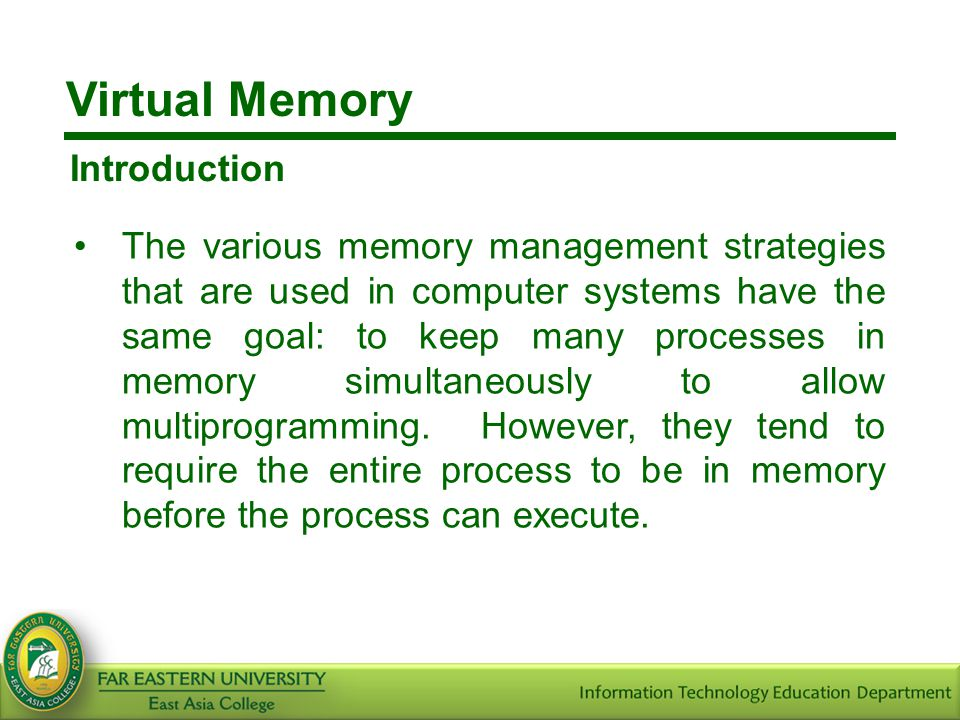 Virtual Memory Introduction