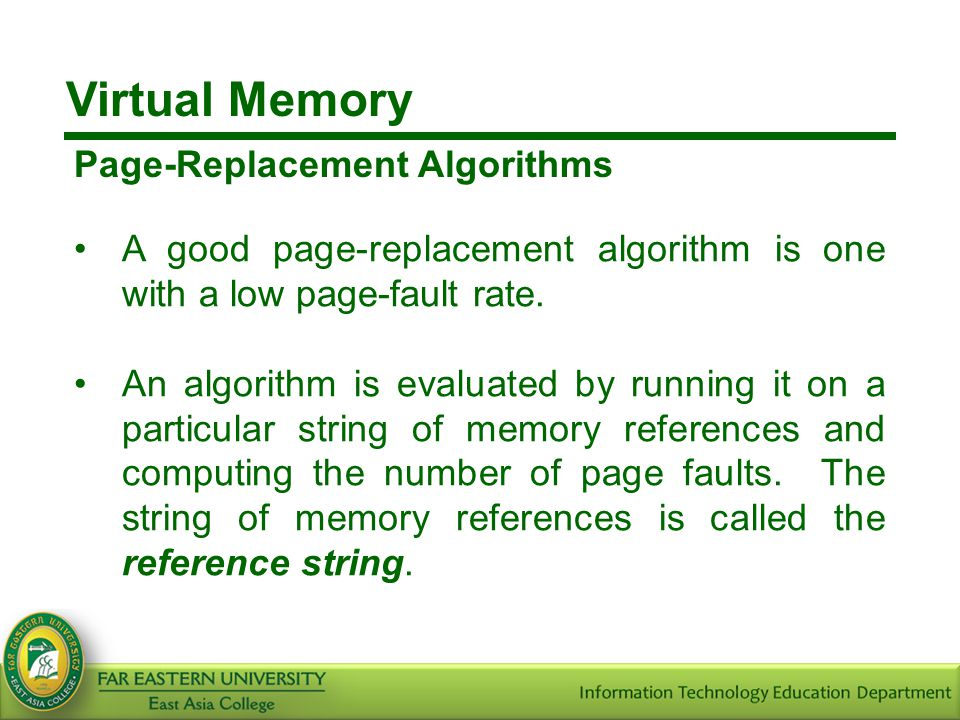 Virtual Memory Page-Replacement Algorithms