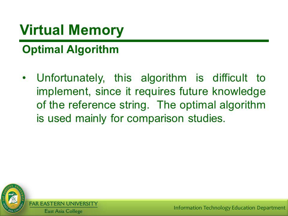 Virtual Memory Optimal Algorithm