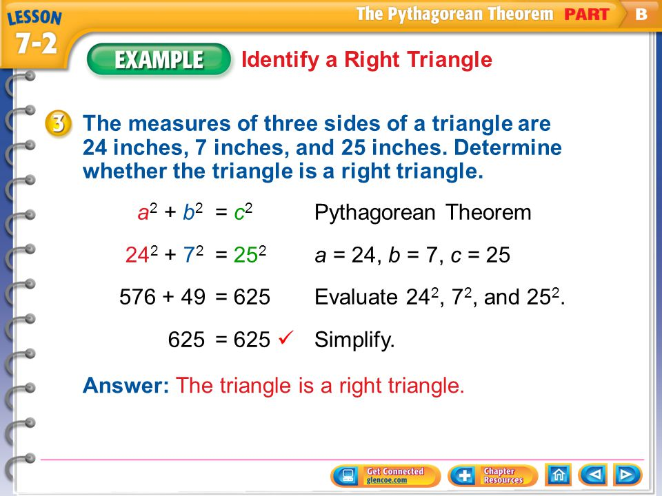 Identify a Right Triangle