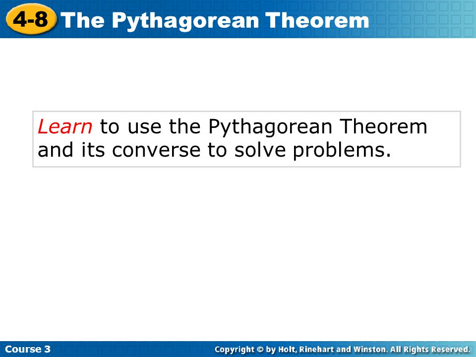 how to solve pythagorean theorem