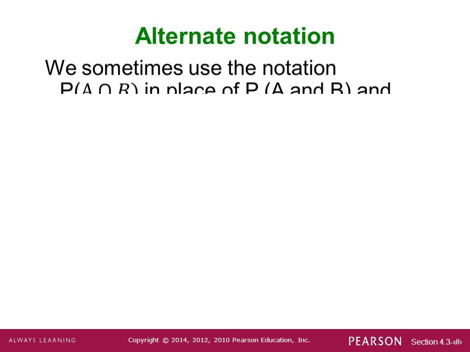 Alternate notation