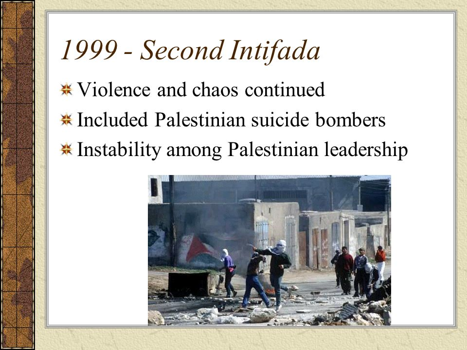 1999 - Second Intifada Violence and chaos continued