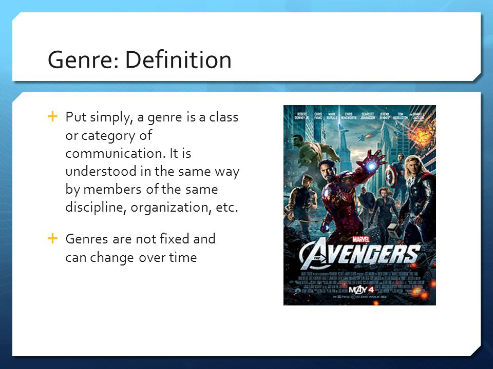 Genre: Definition