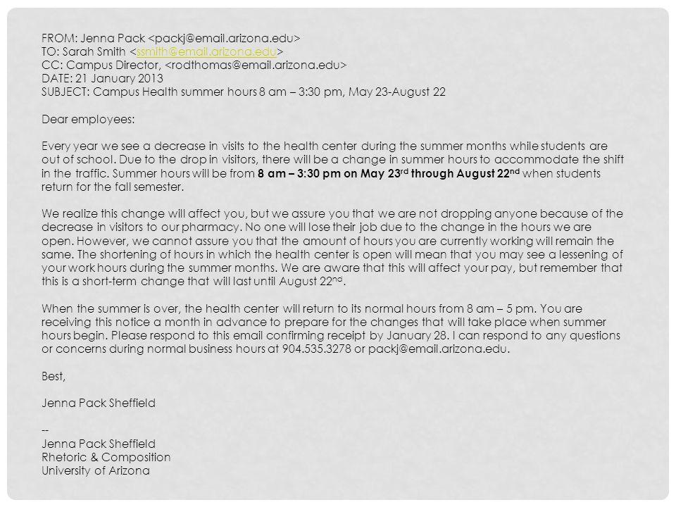 FROM: Jenna Pack <packj@email.arizona.edu>