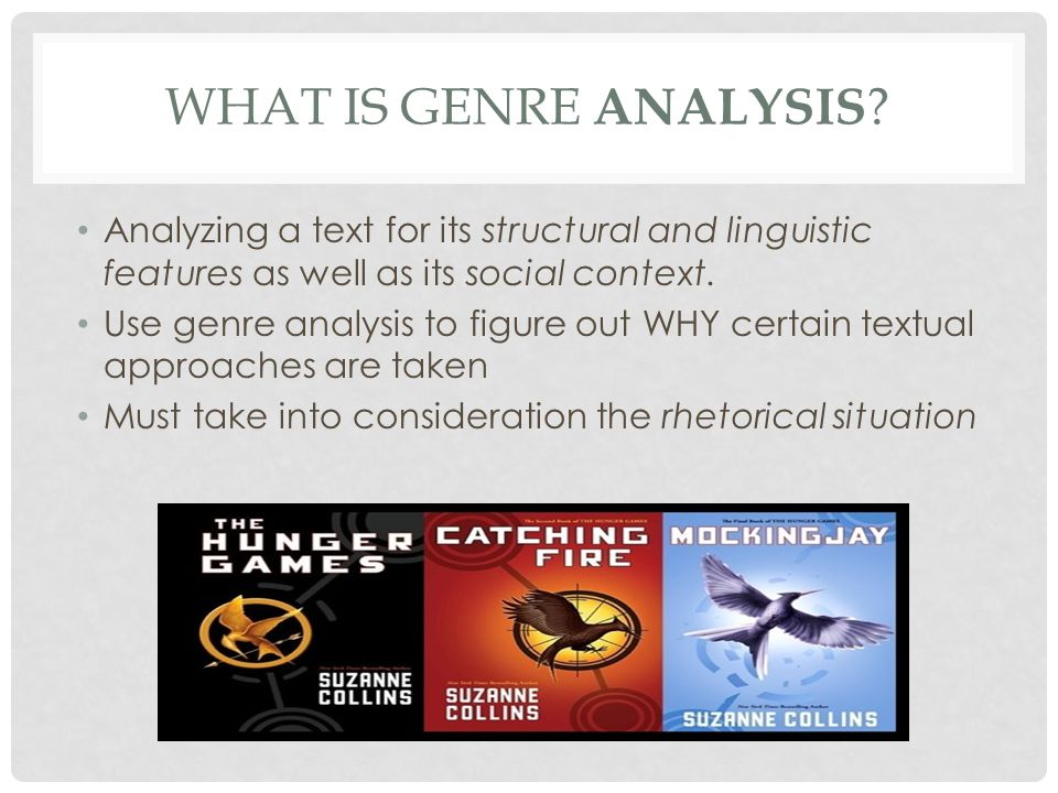 what is genre analysis Analyzing a text for its structural and linguistic features as well as its social context.