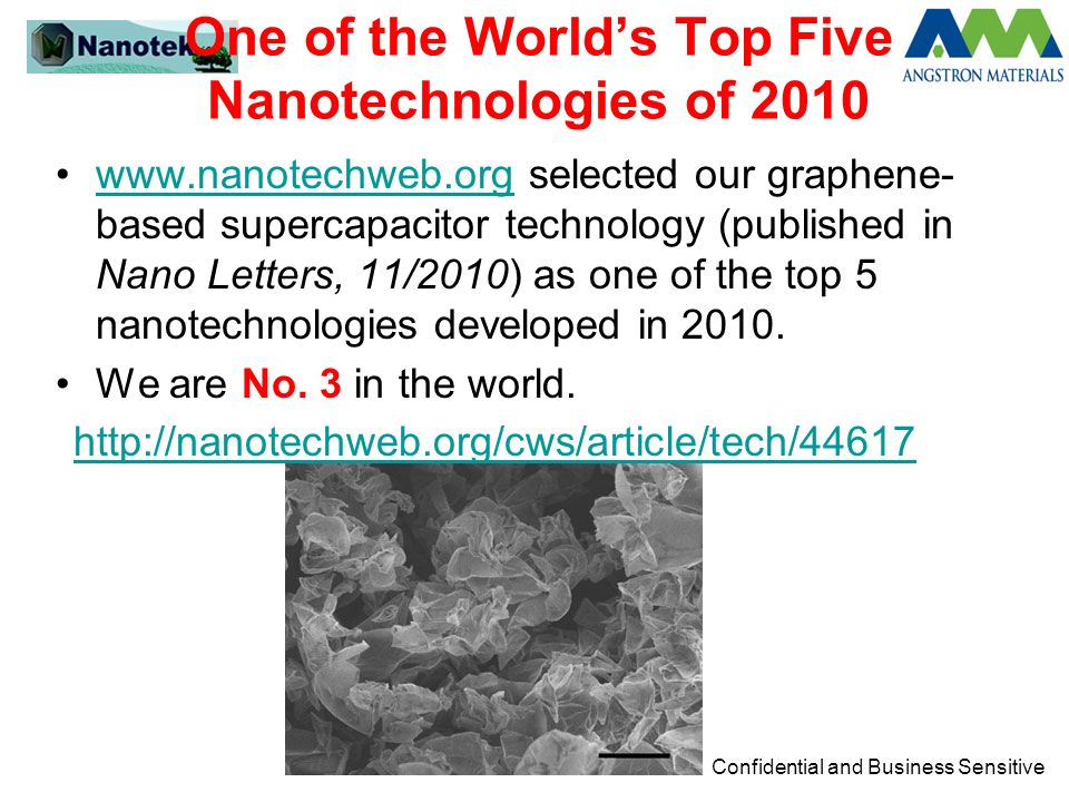 One of the World's Top Five Nanotechnologies of 2010